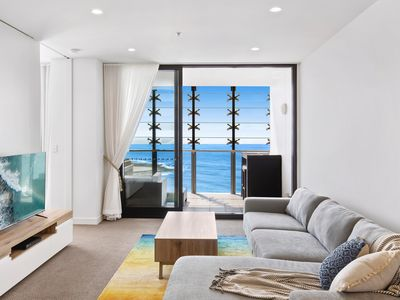 Photo for Luxury Newcastle Beach apartment - with exceptional beach views & free parking