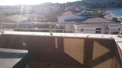Photo for Vila Ella apartment no4, 20 metars from beach, sea view, jacuzzi on teras, WI-FI