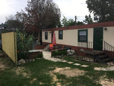 Photo for No tent required! Small mobile home with charm!!!