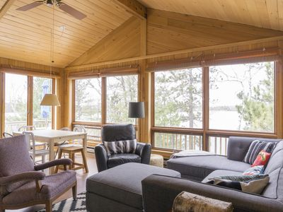 Photo for Escape to this private, charming, up north cabin overlooking 8th Crow Wing Lake