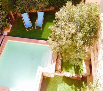 Photo for 90m2 in house with private pool terrace and garden