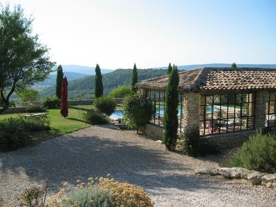 Photo for The country house the Amandière in Gordes - 8 to 16 people