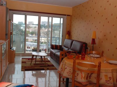 Photo for Oceanview (200m) -Appt 45 m² + terrace facing racetrack-garage-air conditioning-WIFI-4 *