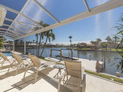 Photo for Waterfront Home with Heated Pool and Panorama Lanai Overlooking Wide Bay Views!