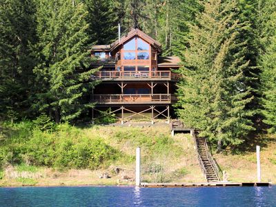 Photo for Spectacular 3-Story 6BR CDA Lakefront w/Dock, Hot Tub on Secluded Powderhorn Bay