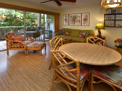 Photo for Tropical Garden View at a Beach Front Property-Kihei Kai Unit 7