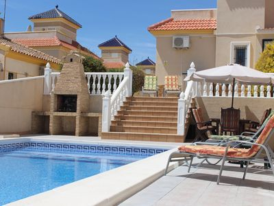 Photo for 3 Bed Luxury Private Detached Villa With Private Pool (sleeps 6) free wifi
