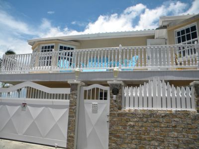 Photo for Comfy 3 Bed 1.5 Bath Ground Floor Seaview Apartment In Downtown Belize City