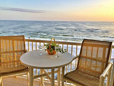 Photo for Penthouse Condo - Direct Ocean Front View - Free Beach Chairs & Umbrella!