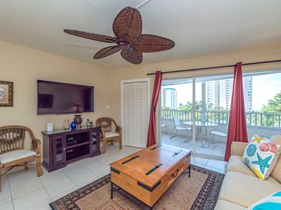 Photo for Renovated 1 br condo with partial ocean view and beach access across the street