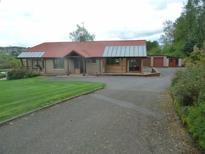 Photo for Large Bungalow With Fabulous View Overlooking Large Pond, With Views Of Crieff A