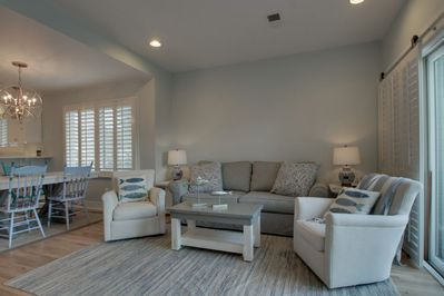 Hang out in this nice living room after the beach!