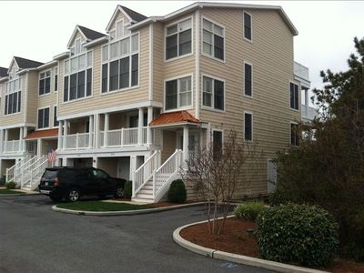 Photo for Beautiful Bay Views! Easy walk to Beach! Luxury 5 BR Townhome  Bay/Beach/Pool!