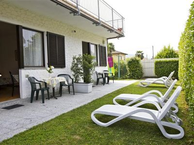 Photo for 1-room apartment with approx. 700 m² garden with a nice pool