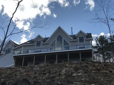 Photo for New Luxurious Home, Unbelievable View Huge Deck, Hot Tub, AC, Waterville Estates