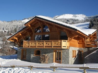 Photo for Charming chalet for 10 persons at Petit Chatel with sauna and outdoor Jacuzzi