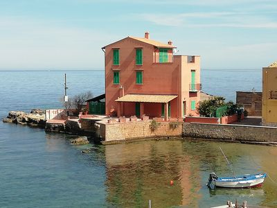 Photo for ATTICO sul MARE, terrazza, 15 Km PALERMO, 2 bedrooms, 2 bathrooms, Wifi, Air C., Free parking, rela