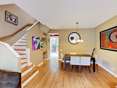 Photo for Long-Term Lakeview 2BR Near Wrigley Field - Private Patio, Balcony & Garage!