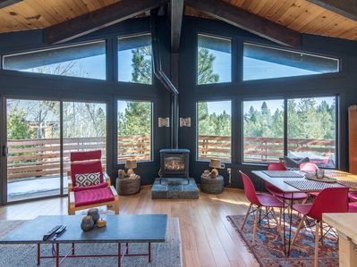 Living Room - Welcome to Truckee! This cabin is professionally managed by TurnKey Vacation Rentals.