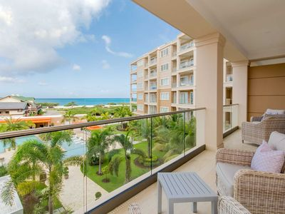 Photo for LEVENT RESORT - Alluring Beach View Two-bedroom condo - LV30C7 - BEACH VIEW - EAGLE BEACH