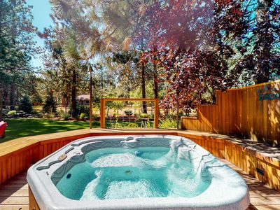 Photo for Beautiful family getaway w/ a private hot tub & shared pool, tennis, basketball