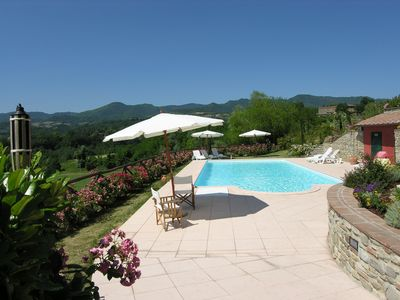 Photo for Wonderful private villa for 9 people with WIFI, private pool, TV and parking