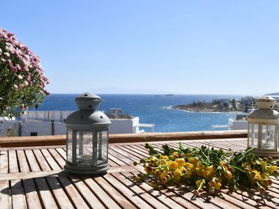 Photo for 3 floor villa with sea view all around, 1 minute by foot from the beach