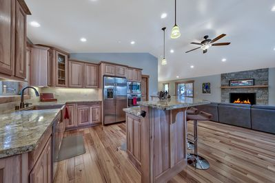 Make use of each inch of the brand new, expansive kitchen, living, and dining space