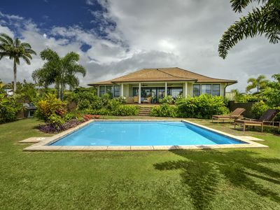 Photo for New Single Level 3-bed 3-bath suite Kukui'ula Home w Private Pool, Central Air