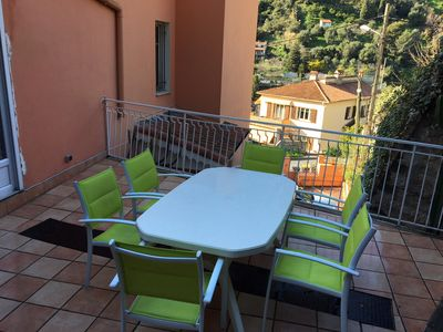 Photo for 2 rooms, parking, terrace in Menton, 15min from the beach