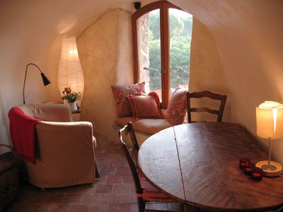 Photo for Cozy Romantic Hideaway with River View In Medieval Village