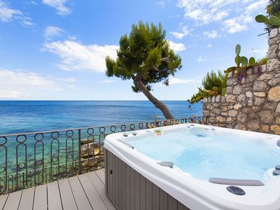 Photo for Casa Giovanna B with Terraces, Jacuzzi, Sea View and Direct Sea Access