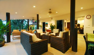 Photo for Beachfront Resort: Villa 4-bdr, very spacious, only 20m to the beach.