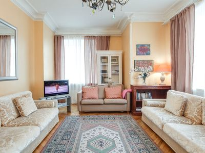 Photo for 2 bdr flat with panoramic view of Pushkin Sq.