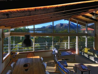 Photo for Unbeatable location with mountain & ocean views. Fireplace, 5 min walk to beach