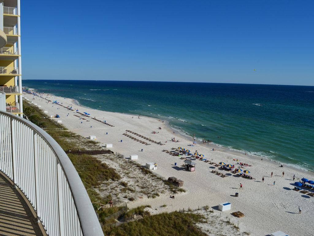 Luxury 2 Bedroom Condo Right At Ocean Front Ocean View Ocean Panama City Beach Florida