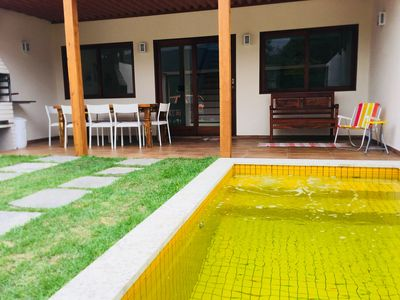 Photo for Novinha, Front Beach, 3 suites w / air cond. pool / hydro, wi-fi, netflix,