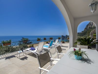 Photo for Villa Marina with Private Pool, Sea View, Terraces and Parking