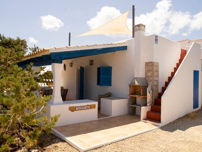 Photo for House 4-6 pax. Terrace with sea views, barbecue. It's Caló.Playa Migjorn 800m.
