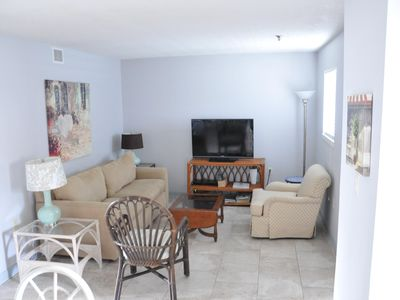 Photo for Walk to Ocean - Indoor pool, tennis,  family friendly, gated community