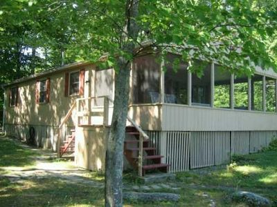 Photo for Lake Sebago 3 BR waterfront cottage