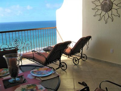 Relax on a Woodard lounge chair overlooking the Sea of Cortez! Great OCEAN views