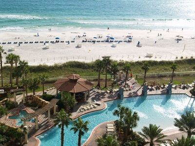 Our View: 14,000 sq ft resort style pool with bridges, fountains & large Hot Tub