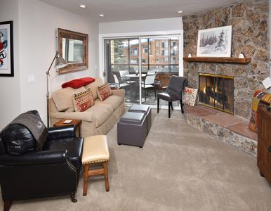 Photo for West Vail, 1 mile to slopes, free shuttle, Aria Club access, fireplace, cozy