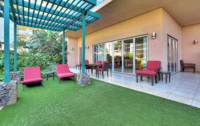 Photo for Ground floor, waterfront condo w/ large lanai - steps from the pools & hot tubs