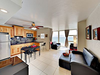 Photo for New Listing! Beachfront Studio w/ Ocean Views, Pool, Spa & Tiki Bar