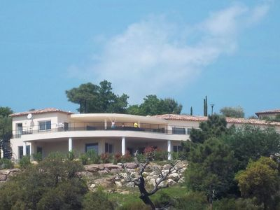 Photo for Luxury villa with private pool and beautiful views of the hills and bay of Cannes