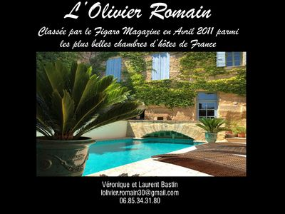 Photo for Beautiful house pool village heart. Uzes