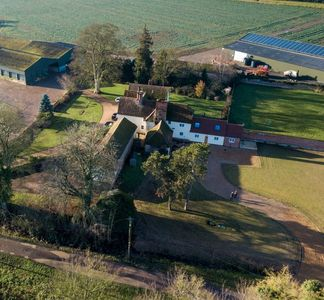 Ariel view of Orchard Cottage