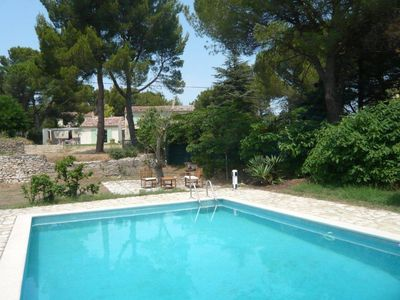Photo for Villa of character, 6 pers, large enclosed garden in the pines, beautiful private pool